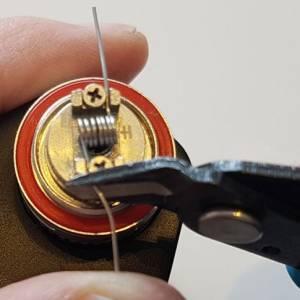 zelf cols maken draadeinden knippen